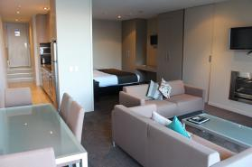 Dining Lounge King Hero One Two Bedroom Highview Apartments - Queenstown Luxury Accommodation